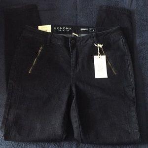 NWT Sonoma Dark Wash Skinny Jeans 6